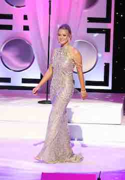 Queenly size 2 Sherri Hill Gold Straight evening gown/formal dress