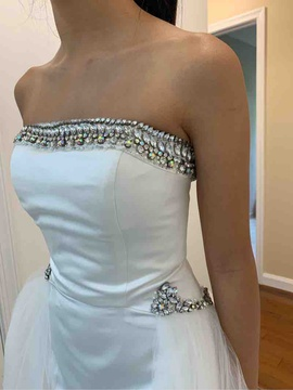 Sherri Hill White Size 00 Train Straight Dress on Queenly