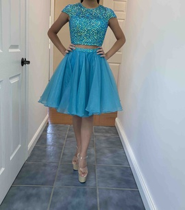 Sherri Hill Blue Size 00 Homecoming Two Piece Cocktail Dress on Queenly