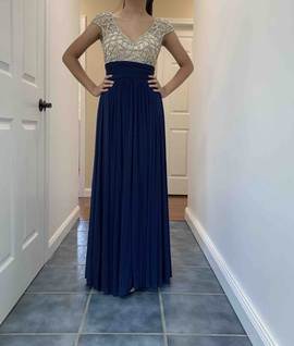 Davids Bridal Blue Size 0 Prom Straight Dress on Queenly