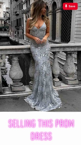 Queenly size 0  Silver Train evening gown/formal dress
