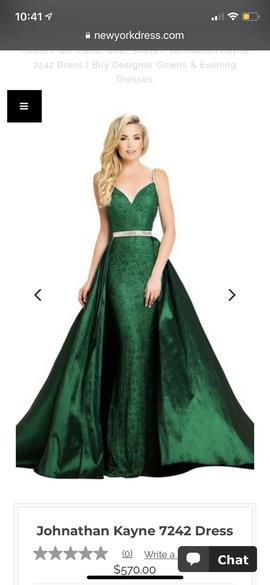 Johnathan Kayne Green Size 4 Silk Belt Train Dress on Queenly