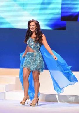 Sherri Hill Blue Size 4 Fun Fashion Train Dress on Queenly