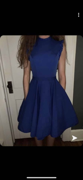 Queenly size 0 Mac Duggal Blue Cocktail evening gown/formal dress