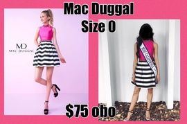 Queenly size 0 Mac Duggal Black Cocktail evening gown/formal dress