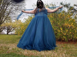 Blue Size 28 Ball gown on Queenly