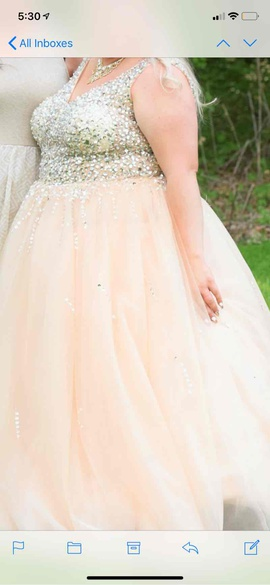 White Size 18 Ball gown on Queenly