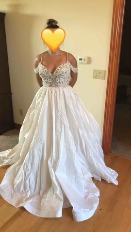 Queenly size 12 Sherri Hill White Ball gown evening gown/formal dress
