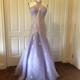 Queenly size 8  Purple Mermaid evening gown/formal dress