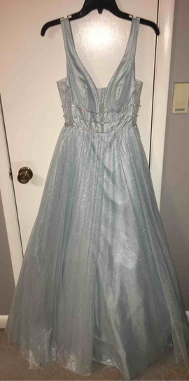 B. Darlin Blue Size 4 Ball gown on Queenly