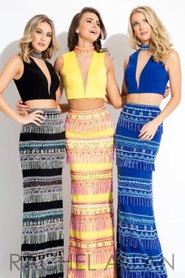 Queenly size 6 Rachel Allan Blue Straight evening gown/formal dress