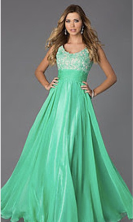 Queenly size 4 Alyce Paris Green Ball gown evening gown/formal dress