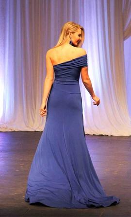 Juan Carlos Blue Size 4 Pageant Custom Side slit Dress on Queenly