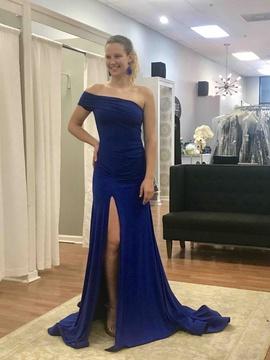 Queenly size 4 Juan Carlos Blue Side slit evening gown/formal dress
