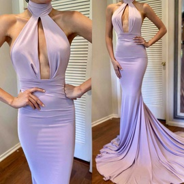 Queenly size 0 Michael costello  Purple Train evening gown/formal dress