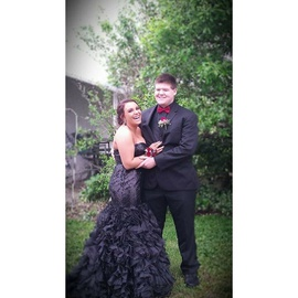 Queenly size 14 Jovani Black Mermaid evening gown/formal dress