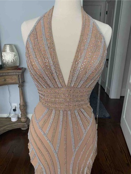 Gold Size 8 Mermaid Dress on Queenly