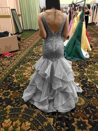 Alyce Paris Blue Size 6 Prom Mermaid Dress on Queenly