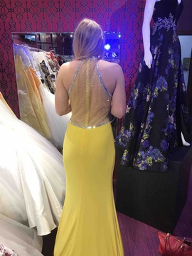 Queenly size 4 Jasz Couture Yellow Mermaid evening gown/formal dress