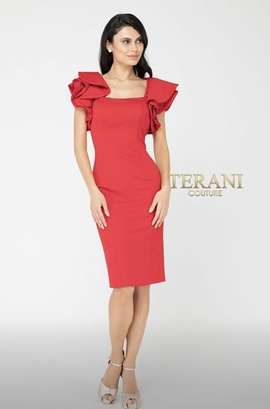 Terani Couture Red Size 6 Interview Cocktail Dress on Queenly