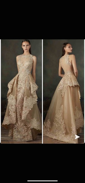 Queenly size 10  Nude Train evening gown/formal dress