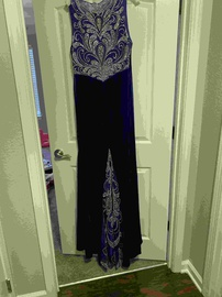 Tiffany Designs Blue Size 16 Plus Size Straight Dress on Queenly