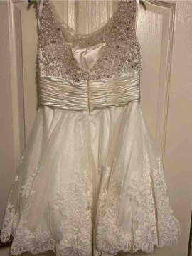 White Size 14 Cocktail Dress on Queenly