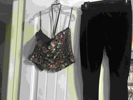 Queenly size 4 Sherri Hill Black Romper/Jumpsuit evening gown/formal dress
