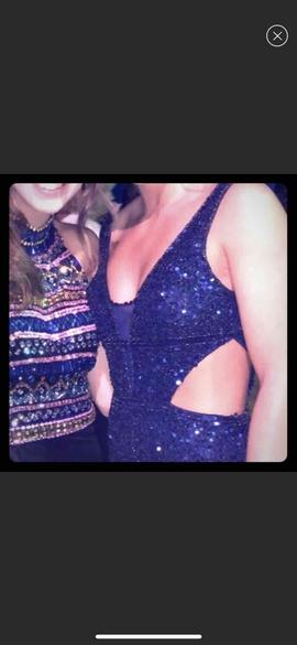 Primavera Blue Size 6 Sequin Romper/Jumpsuit Dress on Queenly