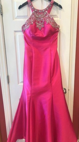 Mori Lee Pink Size 12 Mermaid Dress on Queenly