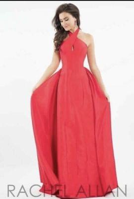 Queenly size 6 Rachel Allan Red A-line evening gown/formal dress