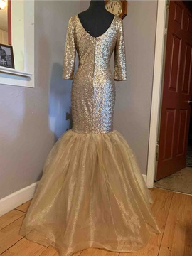 Gold Size 14 Mermaid Dress on Queenly