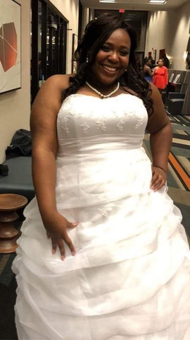 David's Bridal White Size 22 Strapless Wedding Prom Ball gown on Queenly