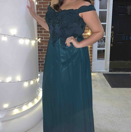 Queenly size 16  Green A-line evening gown/formal dress
