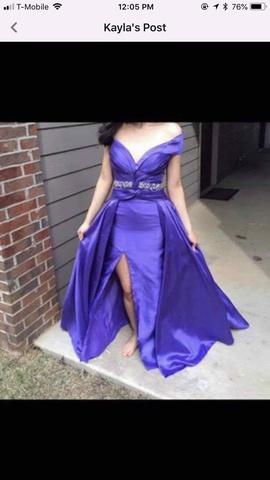 Tony Bowls Purple Size 4 Side Slit Train Dress on Queenly