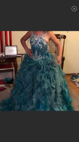 Queenly size 10 Ritzee Blue Ball gown evening gown/formal dress