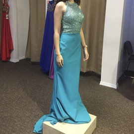 Vienna Blue Size 2 Pageant Straight Dress on Queenly