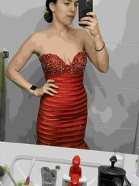 Sherri Hill Red Size 2 Mermaid Dress on Queenly