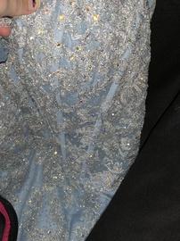 Ellie Wilde Blue Size 4 Mermaid Dress on Queenly