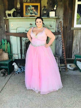 Tiffany Designs Pink Size 24 Ball Gown Tiffany Designs Ball gown on Queenly