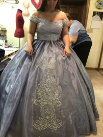 Handmade Purple Size 10 Quinceanera Sheer Ball gown on Queenly