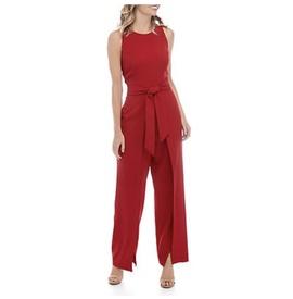 Nine west Red Size 10 Side Slit Romper/Jumpsuit Dress on Queenly