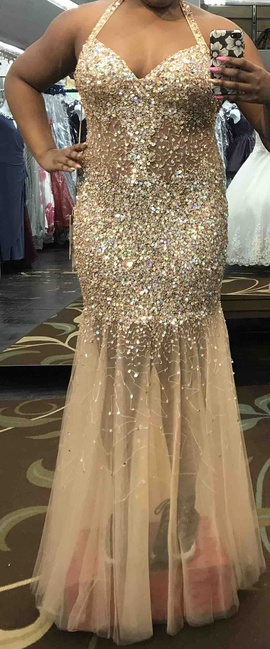 Queenly size 14  Gold Mermaid evening gown/formal dress