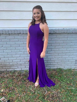 Queenly size 10  Purple Side slit evening gown/formal dress