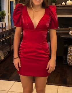 Sherri Hill Red Size 8 Interview Sleeves Cocktail Dress on Queenly