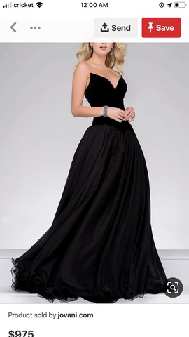Jovani Black Size 2 Strapless Prom Train Dress on Queenly