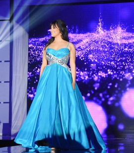 Sherri Hill Blue Size 4 Ball gown on Queenly