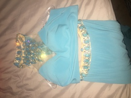 Rachel Allan Blue Size 8 Straight Dress on Queenly