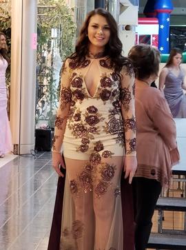 Queenly size 6 Rachel Allan Red Straight evening gown/formal dress