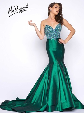 Queenly size 16 Mac Duggal Green Mermaid evening gown/formal dress
